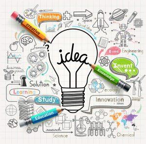 Lightbulb,Ideas,Concept,Doodles,Icons,Set.,Vector,Illustration.