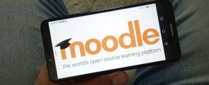 Konskie,,Poland,-,June,29,,2019:,Moodle,Logo,Displayed,On